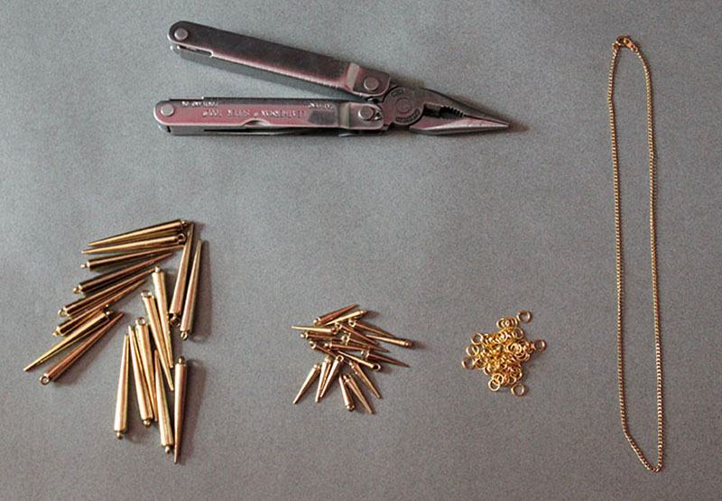 Spike Necklace Materials