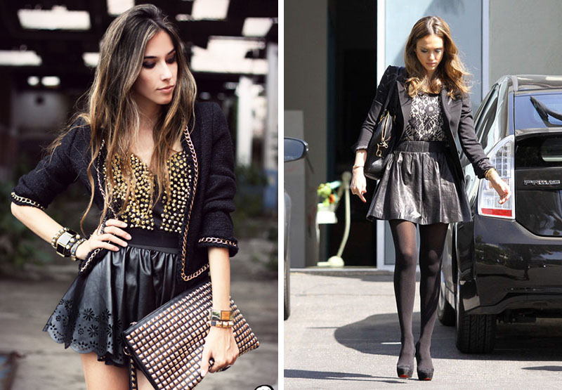 leather circle skirts