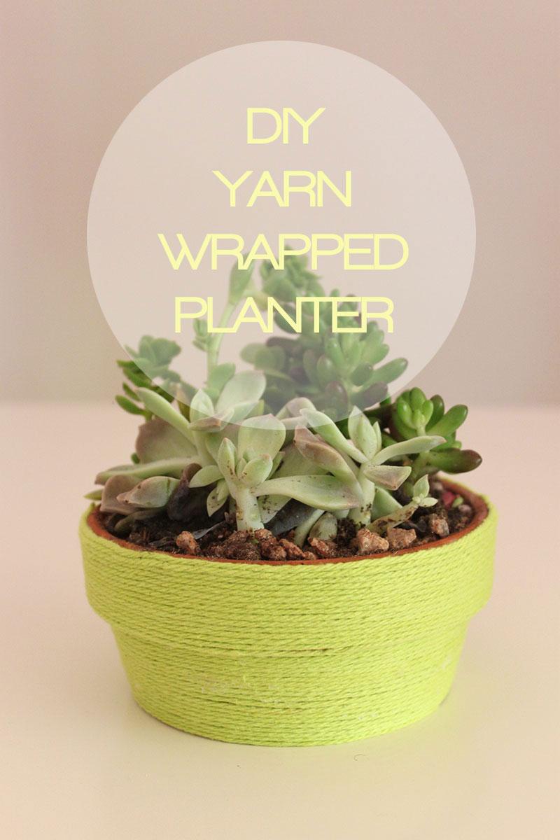 DIYYarn wrapped planter