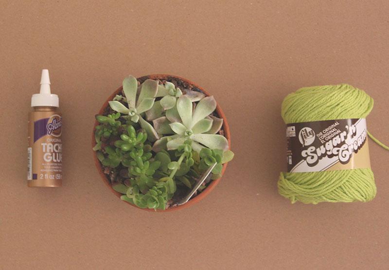 Yarn-Covered-Planter