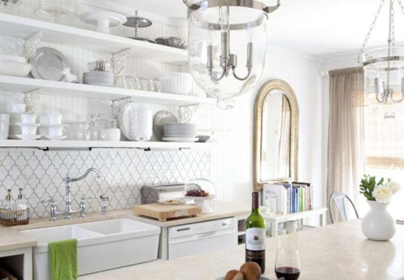 Exposed Kitchen Shelves