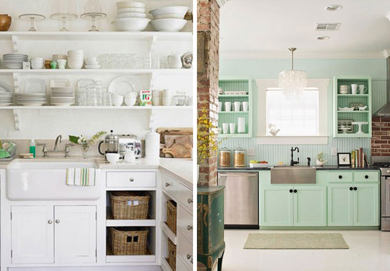 Exposed Kitchen Shelves Home Design Ideas And Pictures