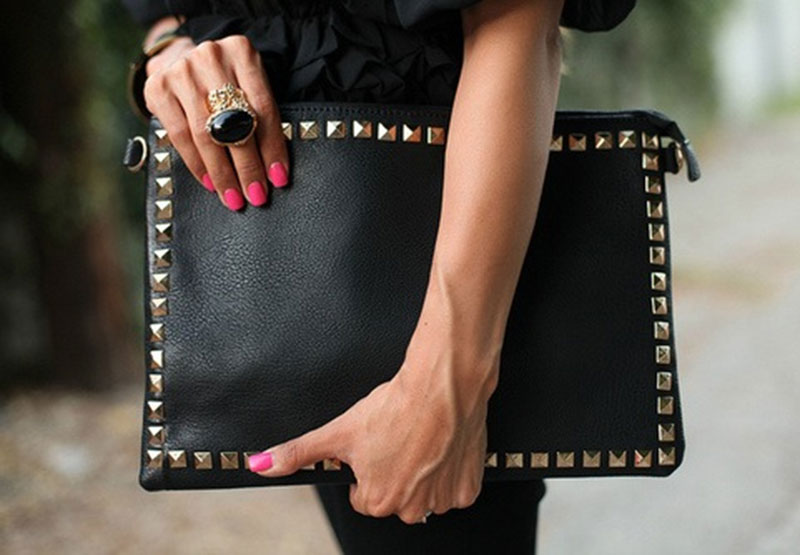 DIY Inspo: Studded Clutch