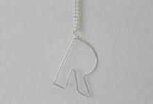 Wire Bubble Letter Necklace