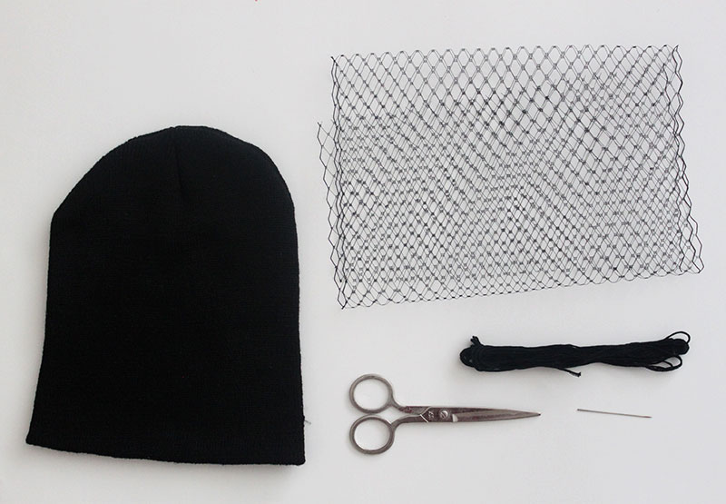 Veiled Beanie Materials