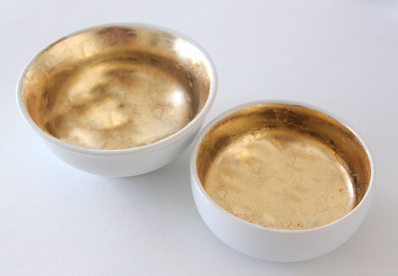 Gold Leaf Bowls