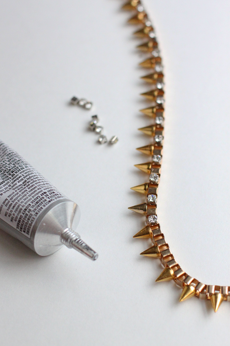 Studded Box Necklace