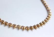 Studded Box Necklace