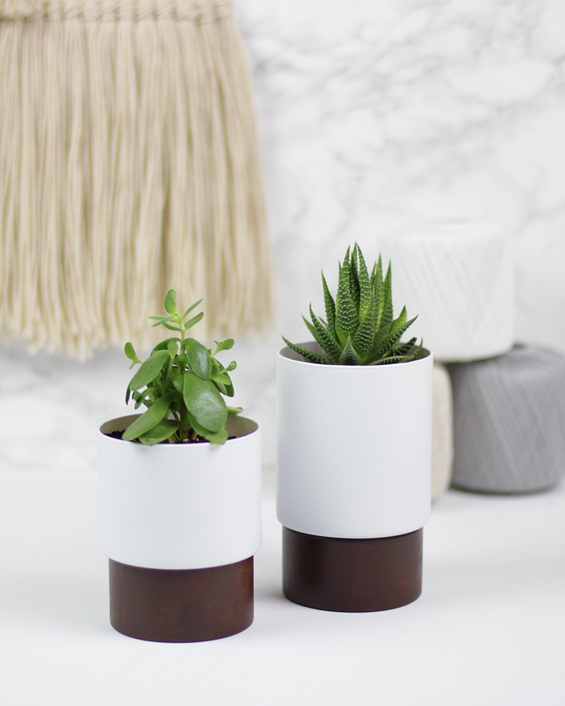 Wood Bottom Planters