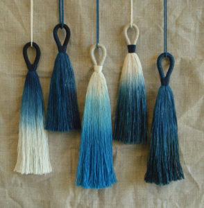 Indigo-dyed-tassels
