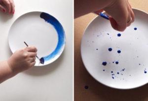 stylish-diy-indigo-painted-plates
